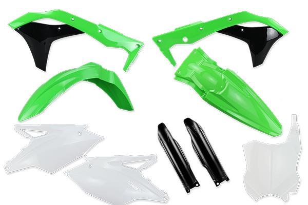 Complete Plastic Kit With Lower Forks for Kawasaki: KX250F (2017-20) | DeCal Works