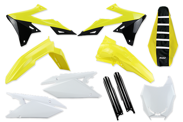 Complete Kit with Lower Forks  & Seat Cover for Suzuki: RMZ450 (2018-20) / RMZ250 (2019-20) | DeCal Works