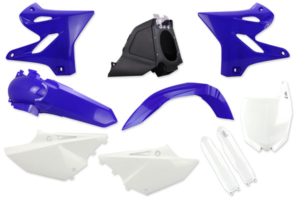 {{itemdesc}} Complete Plastic Kit With Lower Forks for Yamaha: YZ125 (2 Stroke) [Polisport Restyled Plastic Kit] (2008-14) / YZ250 (2 Stroke) [Polisport Restyled Plastic Kit] (2008-14)