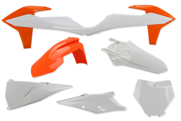 Complete Plastic Kit for KTM: SXF450 (Factory Edition) (2018-20) / SX125 (2 Stroke) (2019-20) / SX150 (2 Stroke) (2019-20) / SX250 (2 Stroke) (2019-20) / SXF250 (2019-20) / SXF350 (2019-20) / SXF450 (2019-20) / XC250 (2 Stroke) (2019) / XC300 (2 Stroke) (2019) / XCF250 (2019-20) / XCF350 (2019-20) / XCF450 (2019-20) / XC250 TPI (2 Stroke) (2020) / XC300 TPI (2 Stroke) (2020) | DeCal Works