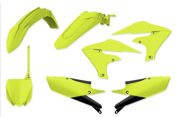 Specialty Color Plastic Kit for Yamaha: YZ450F (2018-20) / YZ250F (2019-20) / YZ450FX (2019-20) / YZ250FX (2020) | DeCal Works