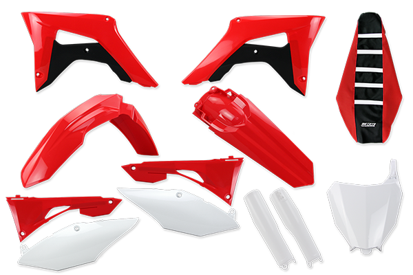 Complete Plastic Kit With Lower Forks & Seat Cover for Honda: CRF250R (2019-20) / CRF450R (2019-20) | DeCal Works