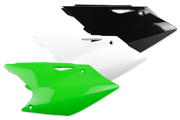 Side Number Plates for Kawasaki: KX250F (2004-05) Suzuki: RMZ250 (2004-06) | DeCal Works