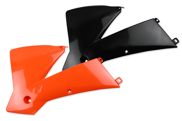 Rad Cover Set for KTM: SX125 (2 Stroke) (2001-04) / SX250 (2 Stroke) (2001-04) / SX400 (2001-02) / SX520 (2001-02) / SX380 (2002-04) / EXC200 Square Headlight (2003-04) / EXC250 Square Headlight (2003-04) / EXC300 Square Headlight (2003-04) / EXC400 Square Headlight (2003-04) / EXC450 Square Headlight (2003-04) / EXC525 Square Headlight (2003) / MXC200 (2003) / MXC300 (2003-04) / SX450 (2003-04) / SX525 (2003-04) / EXC125 Square Headlight (2004) | DeCal Works
