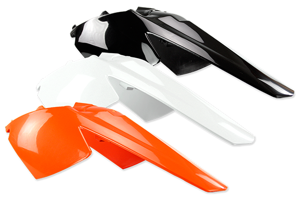 Rear Fender / Side Number Plate for KTM: SX105 (2 Stroke) (2003-11) / SX85 (2 Stroke) (2003-12) / XC105 (2 Stroke) (2008-09) / XC85 (2 Stroke) (2008-09) | DeCal Works