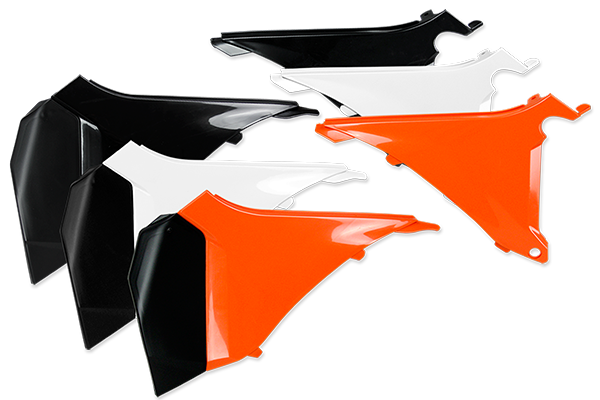 Airbox Covers for KTM: EXC125 (2012-13) / EXC200 (2012-13) / EXC250 (2012-13) / EXC250F (2012-13) / EXC300 (2012-13) / EXC350F (2012-13) / EXC450 (2012-13) / EXC500 (2012-13) / SX125 (2 Stroke) (2011) / SX150 (2 Stroke) (2011) / SX250 (2 Stroke) (2011) / XC150 (2 Stroke) (2011) / XC250 (2 Stroke) (2011) / XC300 (2 Stroke) (2011) / XCF250W (2012-13) / XCF350W (2012-13) / XCW200 (2012-13) / XCW250 (2012-13) / XCW300 (2012-13) / XCW450 (2012-13) / XCW500 (2012-13) | DeCal Works