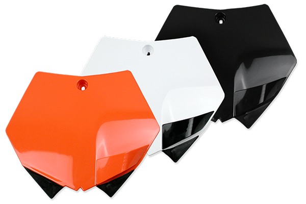 Front Number Plate for KTM: EXC125 (2013-12) / EXC200 (2013-08) / EXC250 (2013-10) / EXC250F (2013-08) / EXC300 (2013-08) / EXC350F (2013-12) / EXC450 (2013-08) / EXC500 (2013-12) / EXC525 (2008) / EXC530R (2011-08) / SMR450 (2008) / SX125 (2 Stroke) (2012-07) / SX144 (2 Stroke) (2008-07) / SX150 (2 Stroke) (2012-09) / SX250 (2 Stroke) (2012-07) / SXF250 (2012-07) / SXF350 (2012-11) / SXF450 (2012-07) / SXF505 (2008-07) / XC150 (2 Stroke) (2012-11) / XC200 (2 Stroke) (2010-08) / XC250 (2 Stroke) (2012-08) / XC300 (2 Stroke) (2012-08) / XC450 (2008) / XCF250 (2012-08) / XCF250W (2013-08) / XCF350 (2012-11) / XCF350W (2013-12) / XCF450 (2010-08) / XCF505 (2010-08) / XCW200 (2013-08) / XCW250 (2013-08) / XCW300 (2013-08) / XCW400 (2011-09) / XCW450 (2013... and more | DeCal Works