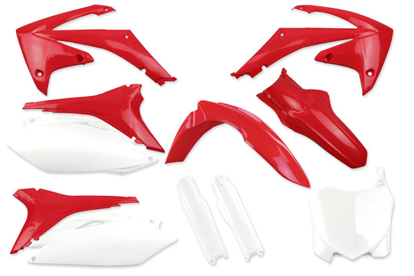 Complete Plastic Kit With Lower Forks for Honda: CRF250R (2011-13) / CRF450R (2011-12) | DeCal Works