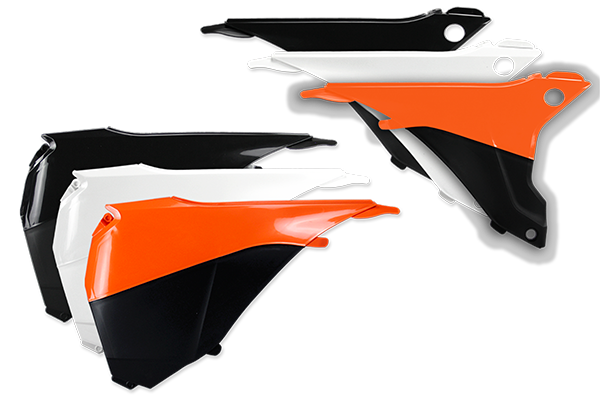 Airbox Covers for KTM: EXC125 (2016) / EXC200 (2016) / EXC250 (2016) / EXC250F (2014-16) / EXC300 (2014, 2016) / EXC350F (2014-16) / EXC450 (2014-16) / EXC500 (2014-16) / XCF250W (2014-16) / XCF350W (2014-16) / XCW200 (2014-15) / XCW250 (2014-15) / XCW300 (2014-16) / XCW450 (2014-16) / XCW500 (2014-16) | DeCal Works