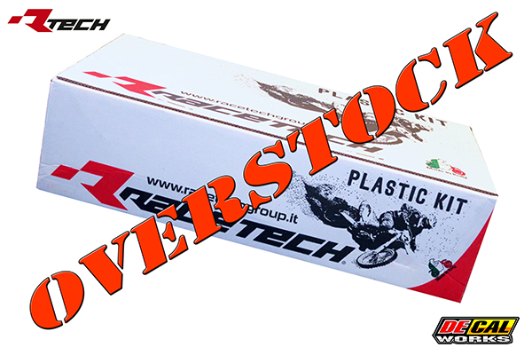 Overstock 5-Piece Plastic Kits for Honda: CRF450R (2007) | DeCal Works