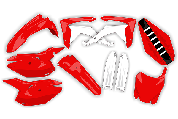 Restyled Plastic Kit Level 1 for Honda: CR125 (2 Stroke) (2002-07, 2002-07) / CR250 (2 Stroke) (2002-07, 2002-07) | DeCal Works