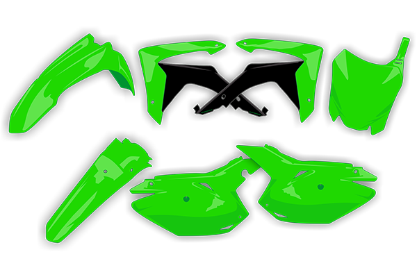 Complete Plastic Kit for Kawasaki: KX250F (2013-16) | DeCal Works