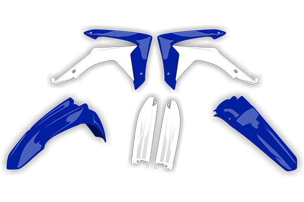 Plastic Kit Level 4 for Yamaha: YZ125 (2 Stroke) [Stock Shape Plastic] (2002-04) / YZ250 (2 Stroke) [Stock Shape Plastic] (2002-04) | DeCal Works
