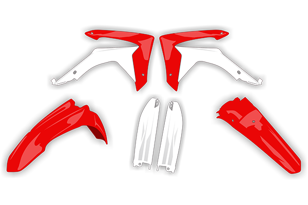 Plastic Kit Level 4 for Honda: CR125 (2 Stroke) [Stock Shape Plastic] (2004-07) / CR250 (2 Stroke) [Stock Shape Plastic] (2004-07) | DeCal Works